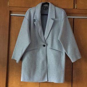 Zara NWOT on trend gray soft trench coat sz S